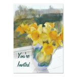 Spring Yellow Daffodils in a Window Custom Announcements