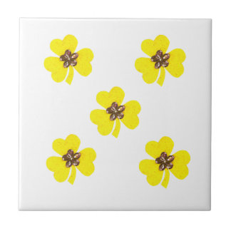 Spring yellow, light yellow clovers for kitchen tile