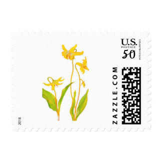 Spring Yellow Lilly Flower Postage