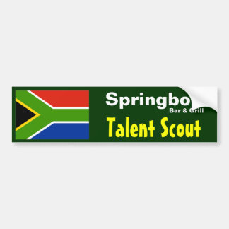 Springbok Bar Talent Scout - Bumper Sticker