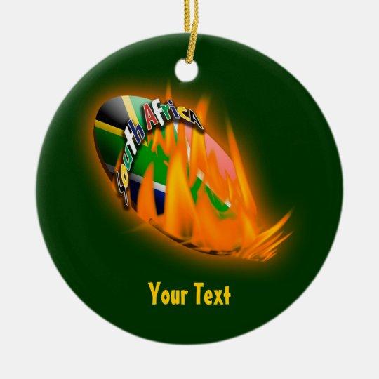 Springbok green & gold supporters gifts patriotic ceramic ornament