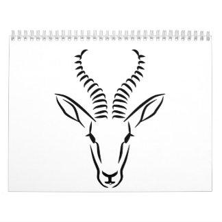 Springbok head calendar