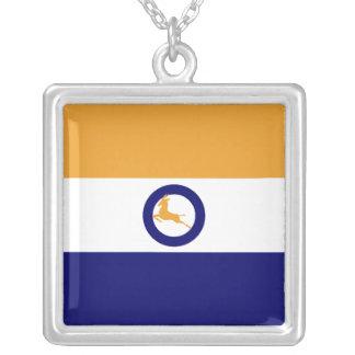 Springbok Vlag Square Pendant Necklace