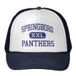 Springboro - panteras - alto - Springboro Ohio Gorro De Camionero