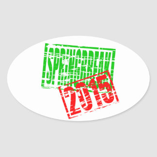 Springbreak 2015 rubber stamp effect stickers
