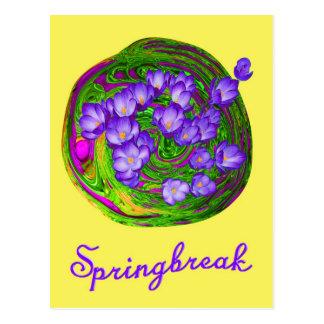 Springbreak yellow tarjetas postales