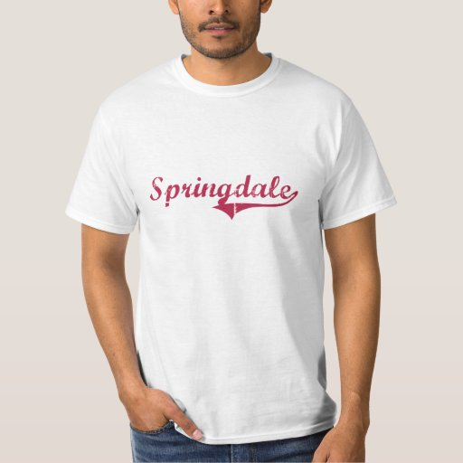 Springdale Arkansas Classic Design Tee Shirts