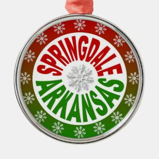 Springdale Arkansas red green ornament
