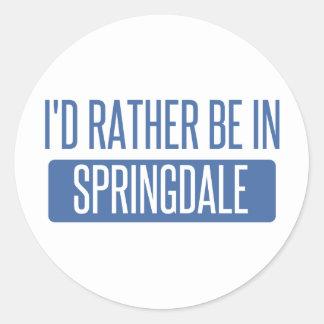 Springdale Classic Round Sticker