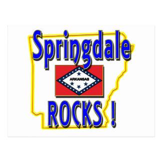 Springdale Rocks ! (blue) Postcard