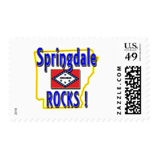Springdale Rocks ! (blue) Stamp