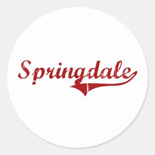 Springdale South Carolina Classic Design Round Stickers