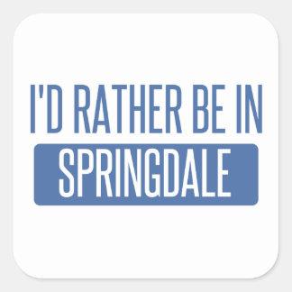 Springdale Square Sticker