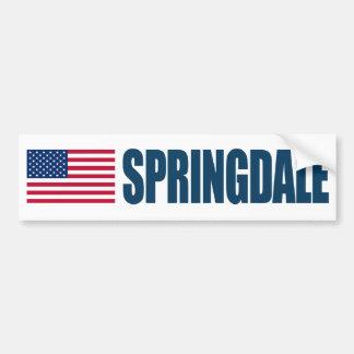 Springdale US Flag Bumper Sticker