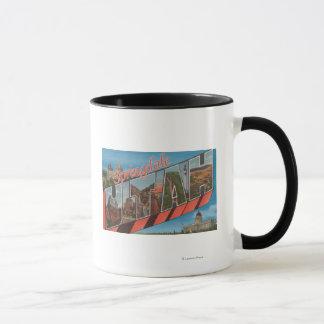 Springdale, Utah - Large Letter Scenes Mug