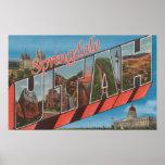 Springdale, Utah - Large Letter Scenes Print