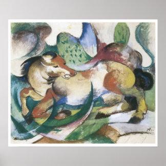 Springendes Pferd, Franz Marc Posters