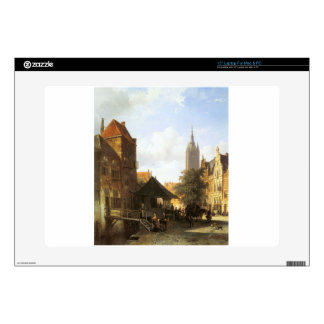 """Springer Cornelis Figures In A Street In Delft Decal For 15"""" Laptop"""