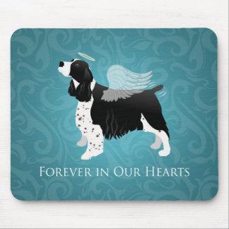 Springer Spaniel Angel Dog Pet Memorial Design Mouse Pad