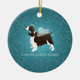 Springer Spaniel Angel - Pet Memorial Ceramic Ornament