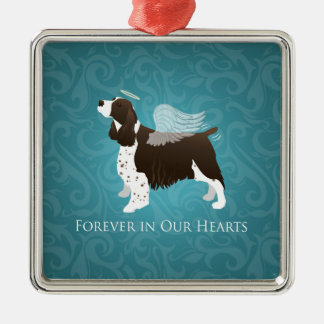 Springer Spaniel Angel - Pet Memorial Metal Ornament