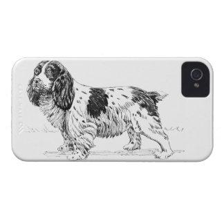 Springer Spaniel Bird Hunting Dog Breed Drawing iPhone 4 Case