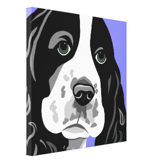 Springer Spaniel Canvas Art Stretched Canvas Print