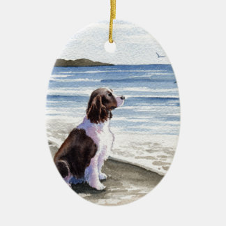 Springer Spaniel Ceramic Ornament