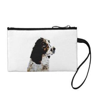 Springer Spaniel Dog Art Change Purse
