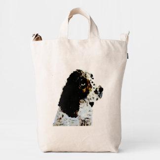 Springer Spaniel Dog Art Duck Bag