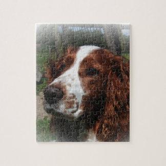 Springer Spaniel Dog Art Puzzle