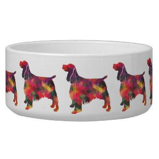 Springer Spaniel Dog Geometric Silhouette Multi Bowl