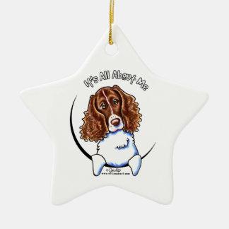 Springer Spaniel IAAM Double-Sided Star Ceramic Christmas Ornament