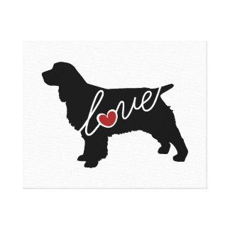 Springer Spaniel Love Canvas Print
