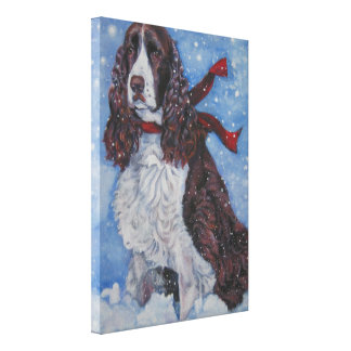 Springer Spaniel Painting on Wrapped Canvas