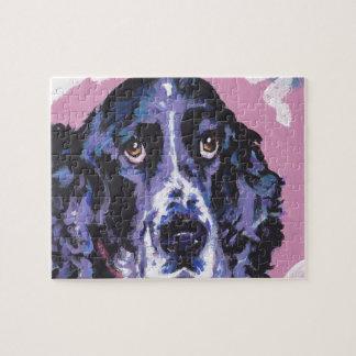 springer spaniel pop art jigsaw puzzle