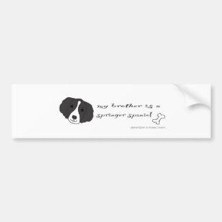SpringerSpanielBrotherBlk Bumper Sticker