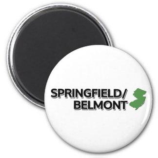 Springfield/Belmont, New Jersey 2 Inch Round Magnet