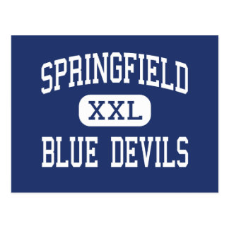 Springfield - Blue Devils - High - Holland Ohio Post Cards