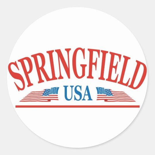Springfield Classic Round Sticker
