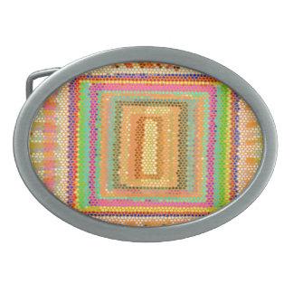 Springfield CropCircle Art Oval Belt Buckle
