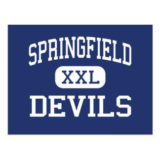 Springfield Devils Middle Holland Ohio Postcard