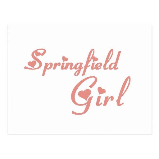 Springfield Girl tee shirts Post Cards