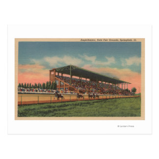 Springfield, IL - State Fair Grounds Horse Postcard