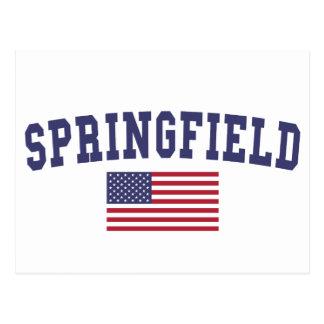Springfield IL US Flag Postcard