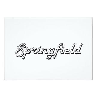Springfield Illinois Classic Retro Design 5x7 Paper Invitation Card