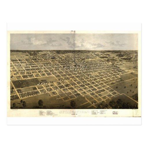 Springfield, Illinois en 1867 Tarjeta Postal