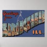 Springfield, Illinois - escenas grandes de la letr Impresiones