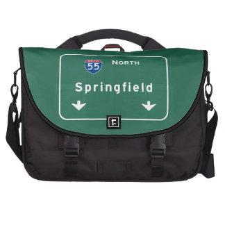 Springfield Illinois Interstate Highway Freeway : Laptop Bag