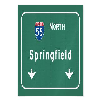 Springfield Illinois Interstate Highway Freeway : Magnetic Invitations